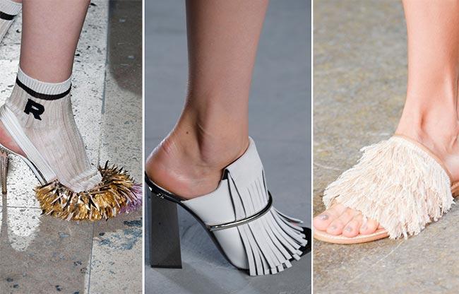 Обувь с бахрамой - тренд 2015
