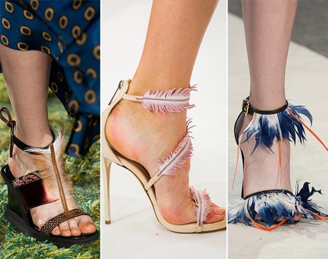 Обувь с перьями - тренд 2015
