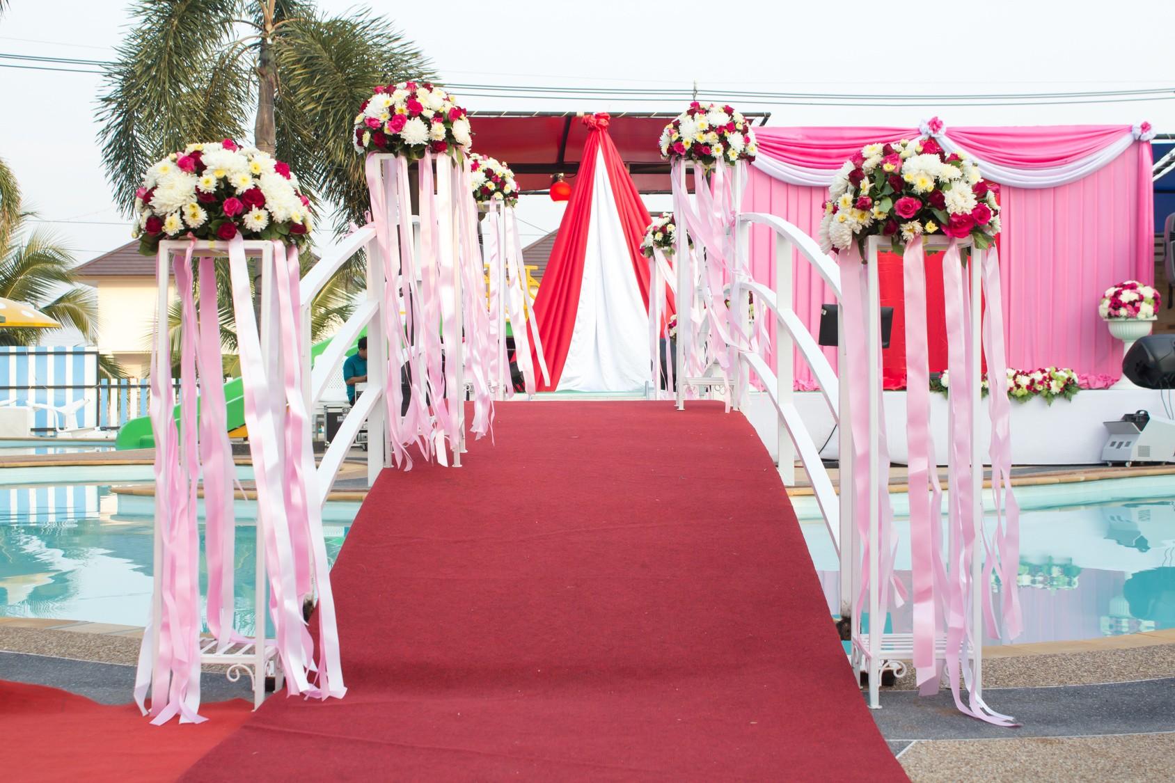 Жаростойкий букет невесты и флористический декор