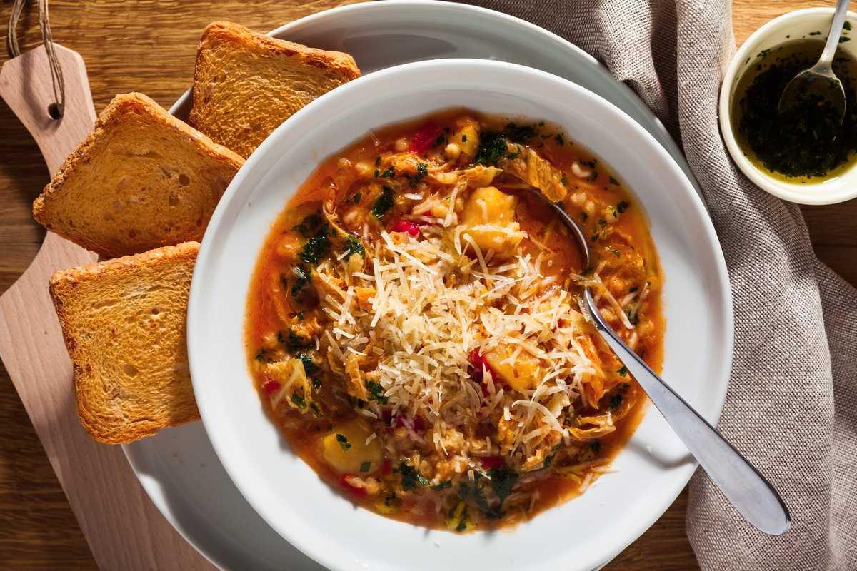 Легкий рецепт супа «Минестроне»