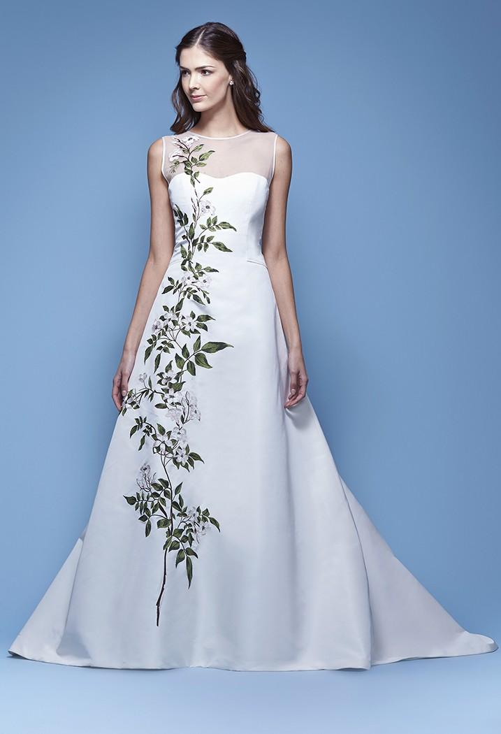 Свадебное платье Carolina Herrera с узором - весна 2016
