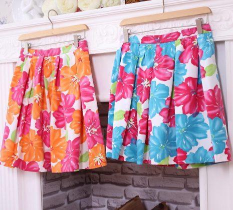 Короткие юбки в цветочек