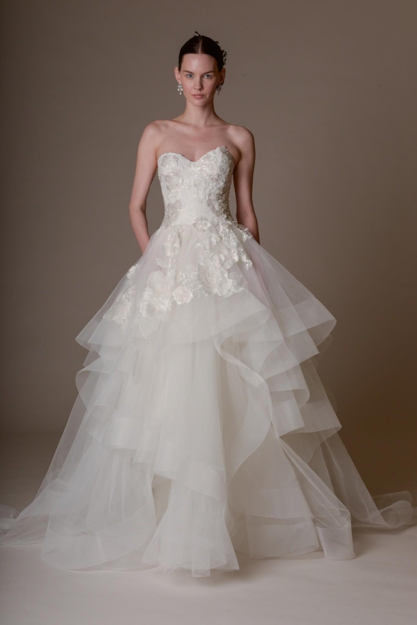 Свадебное платье Marchesa - весна 2016 2