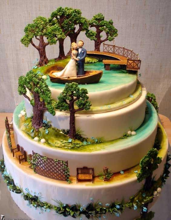 Фигурки жениха и невесты - Самые необычные свадебные торты 7
