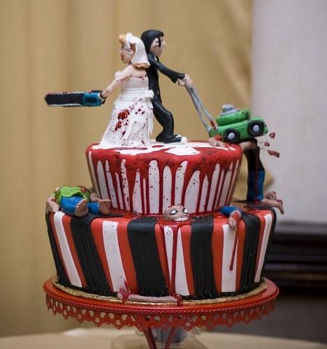 Фигурки жениха и невесты - Самые необычные свадебные торты 24