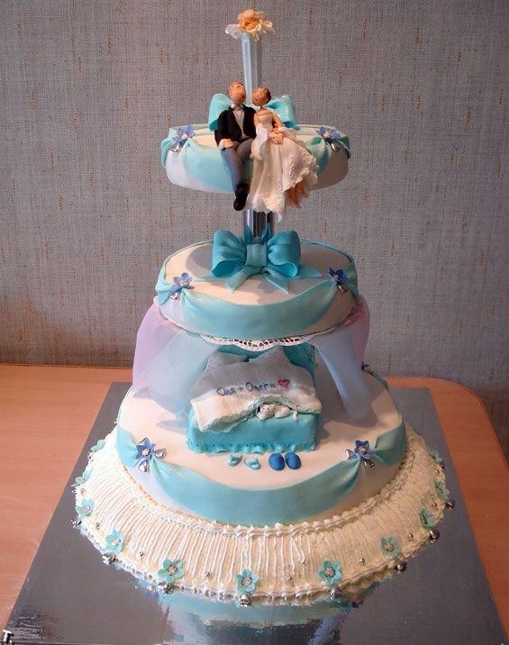 Фигурки жениха и невесты - Самые необычные свадебные торты 13