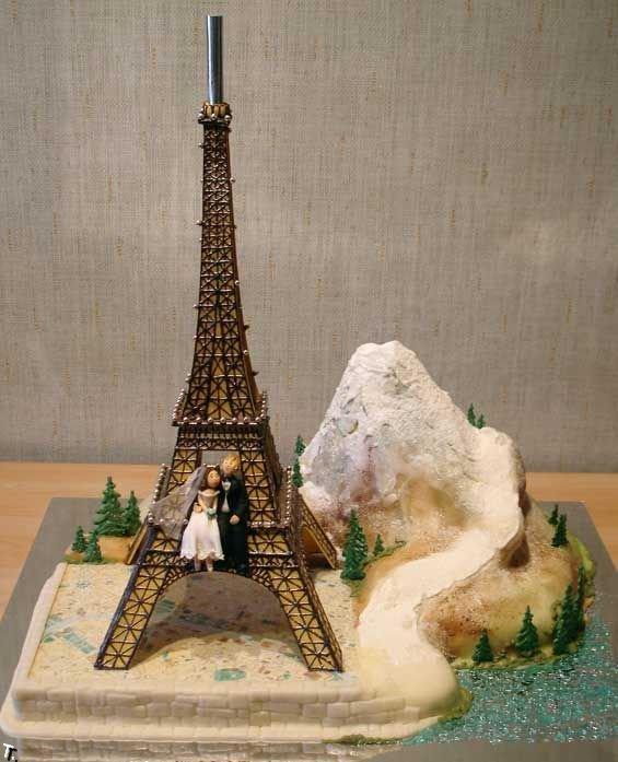 Фигурки жениха и невесты - Самые необычные свадебные торты 15