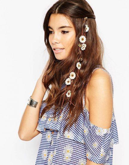 Плетеная заколка для волос