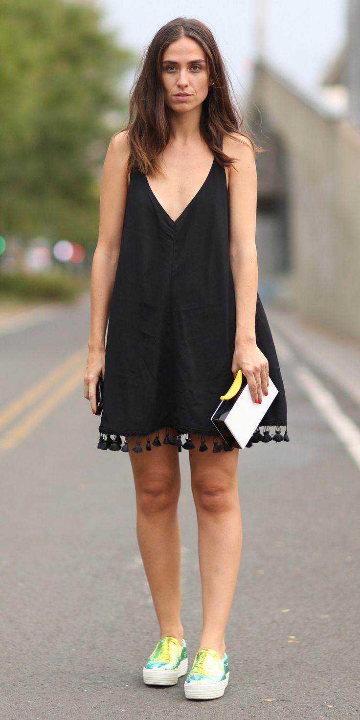 Слипоны с платьем 4