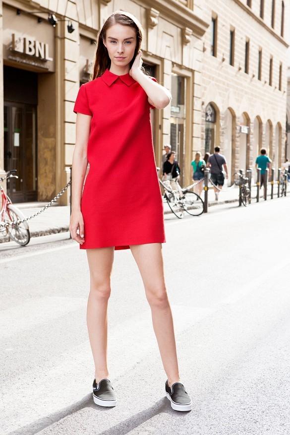 Слипоны с платьем 5