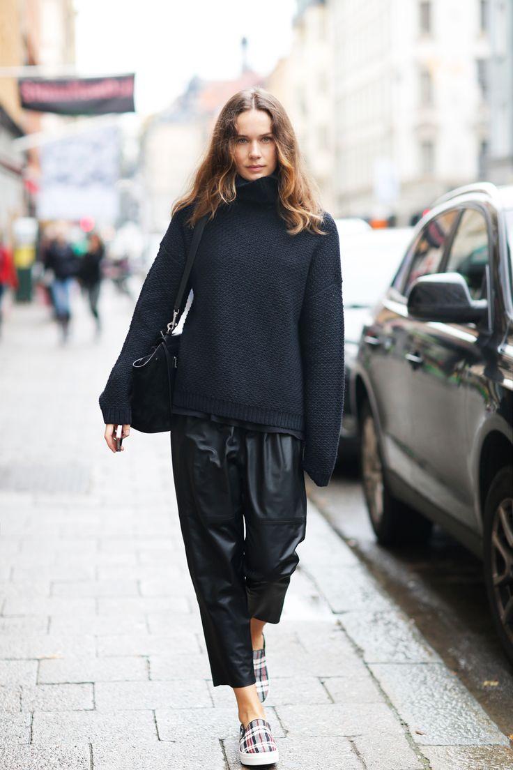 Слипоны с кожаными штанами 2