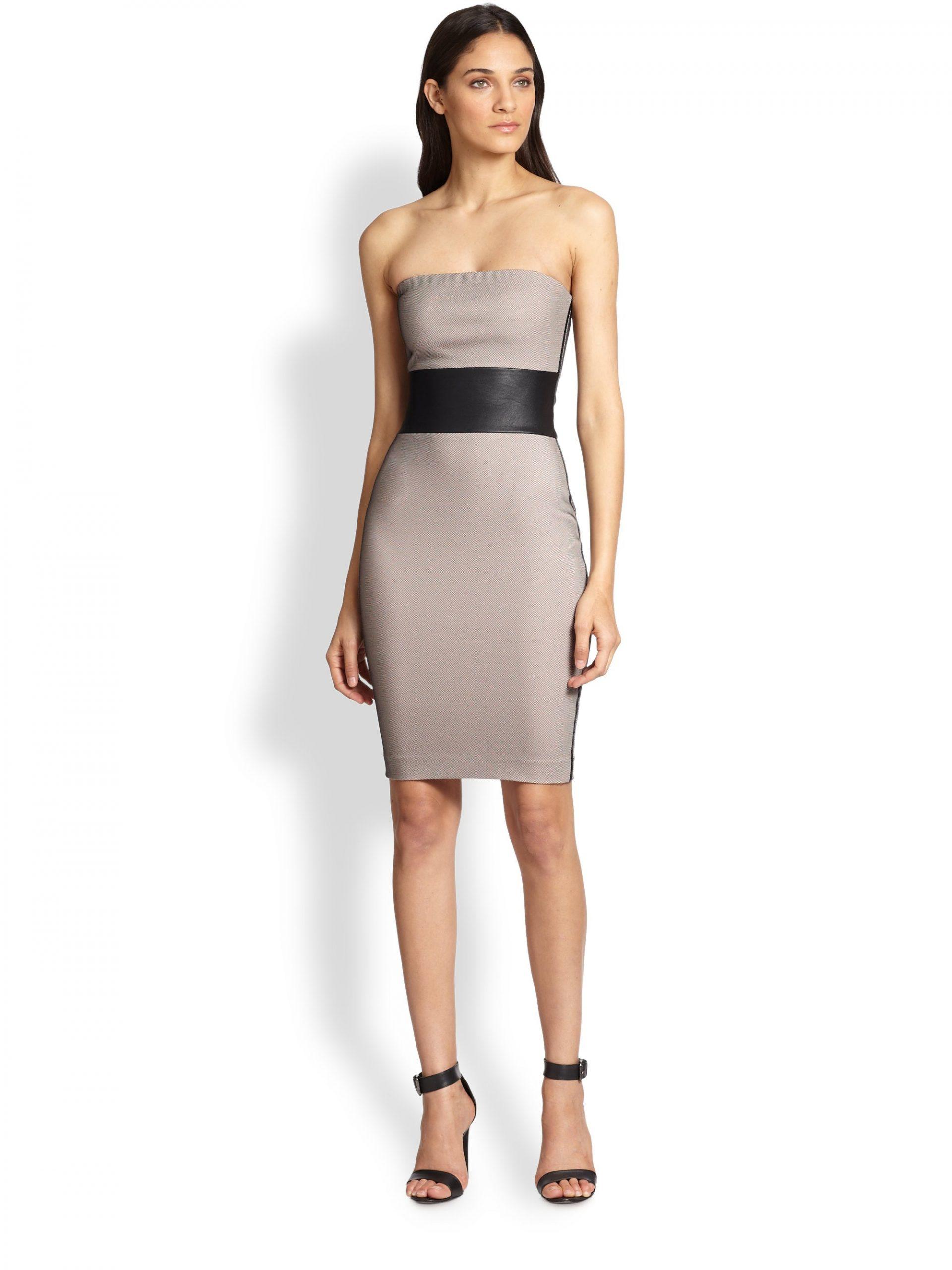 Летнее платье с кожаными вставками