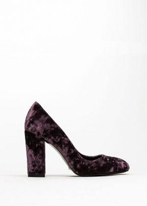 Женский туфель из бархата