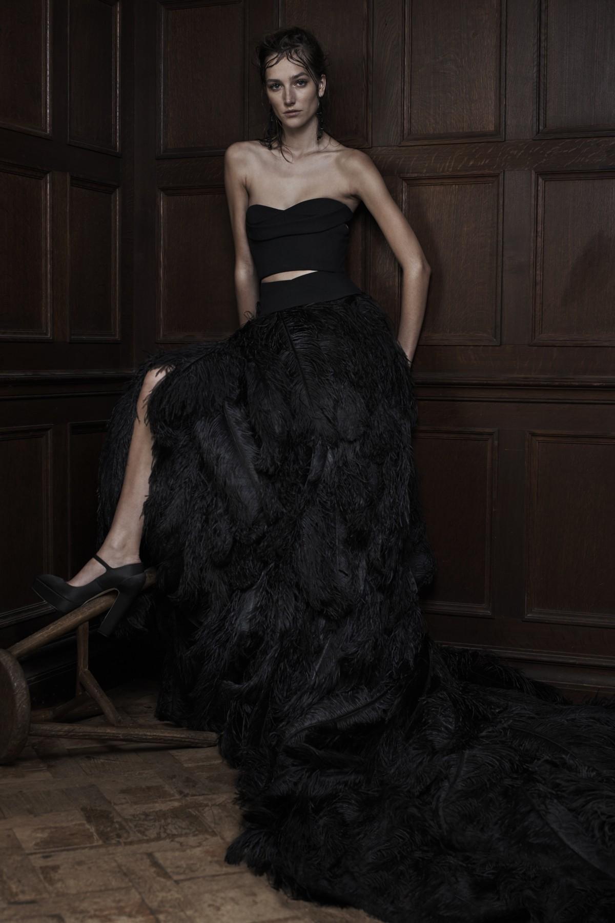 Свадебное платье Vera Wang черное - весна 2016