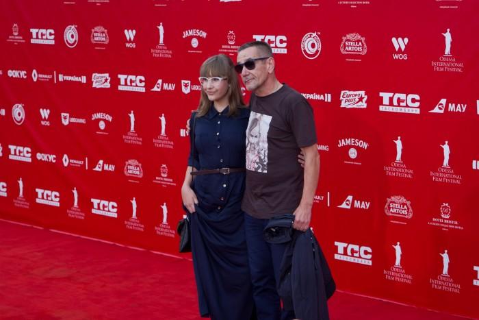 Алексей Горбунов на красной дорожке Одесского кинофестиваля 2015
