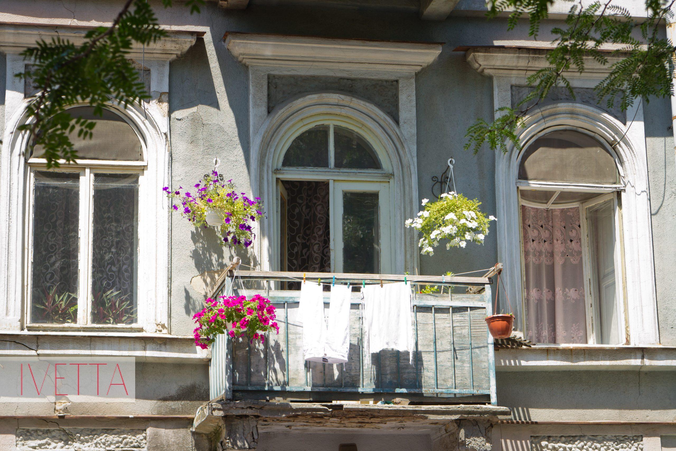 Балкончик с цветами в Одессе