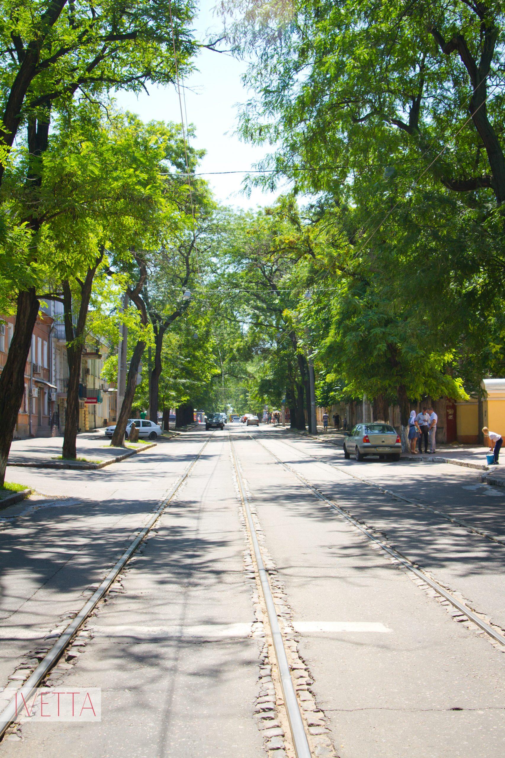 Трамвайные пути в Одессе