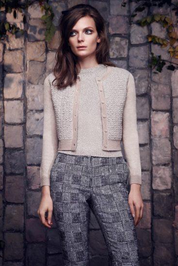 Вязаный свитер с кардиганом