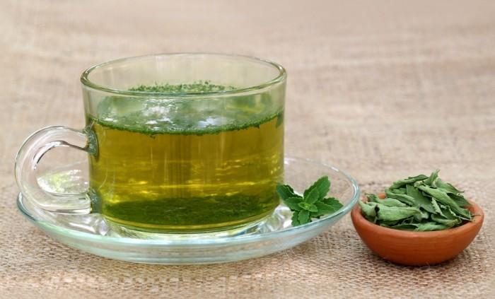 Зеленый чай со стевией