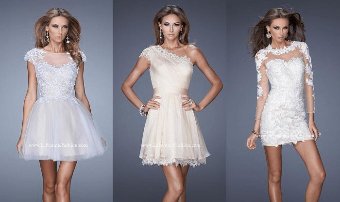 свадебное платье мини La Femme Fashion