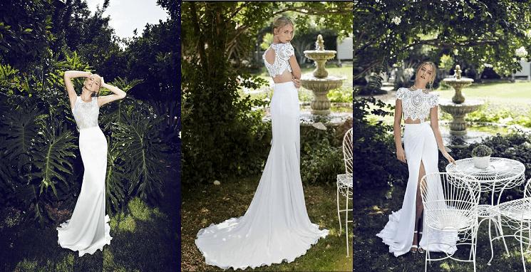 свадебное платье Crop Top Wedding Dresses