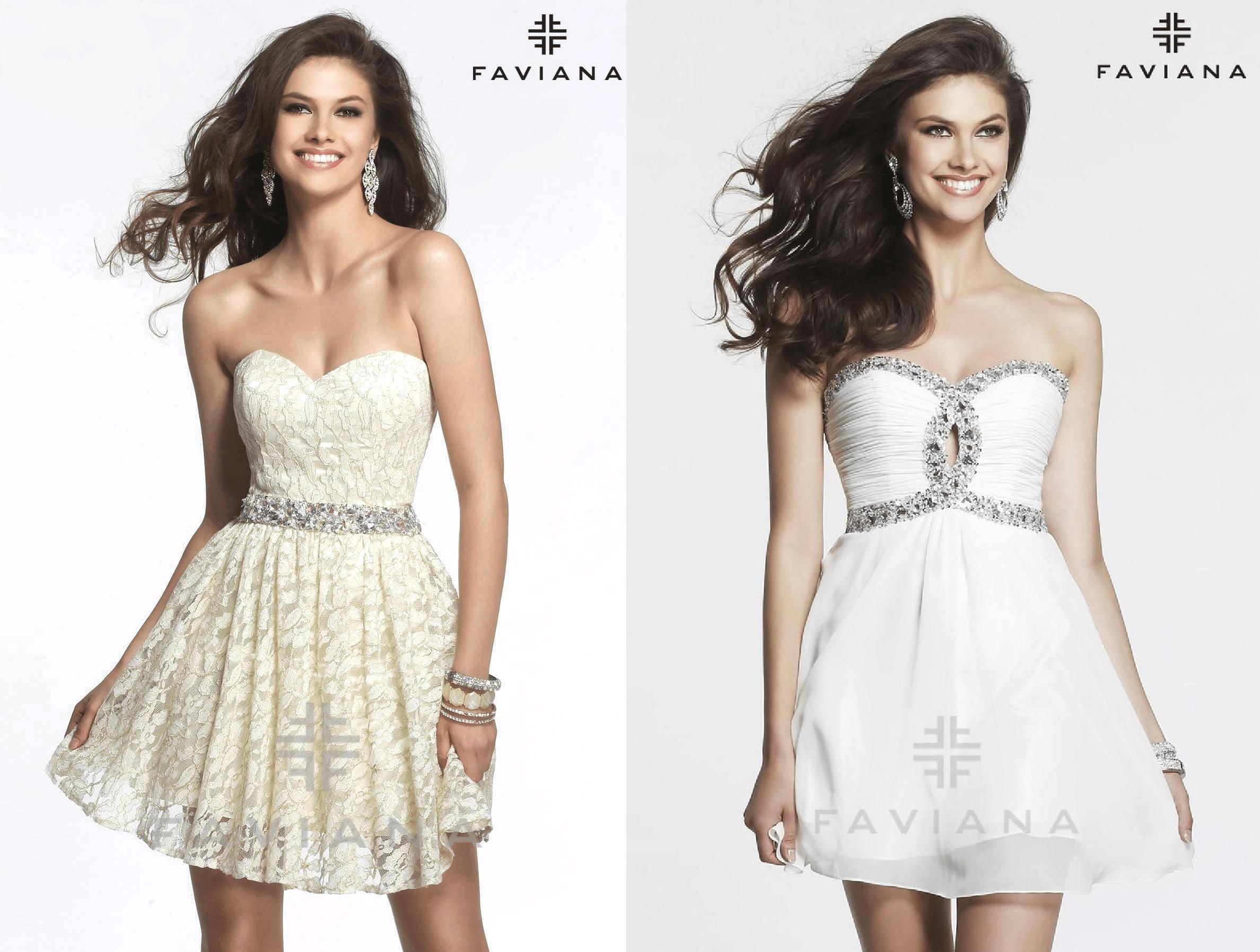 свадебное платье мини Faviana