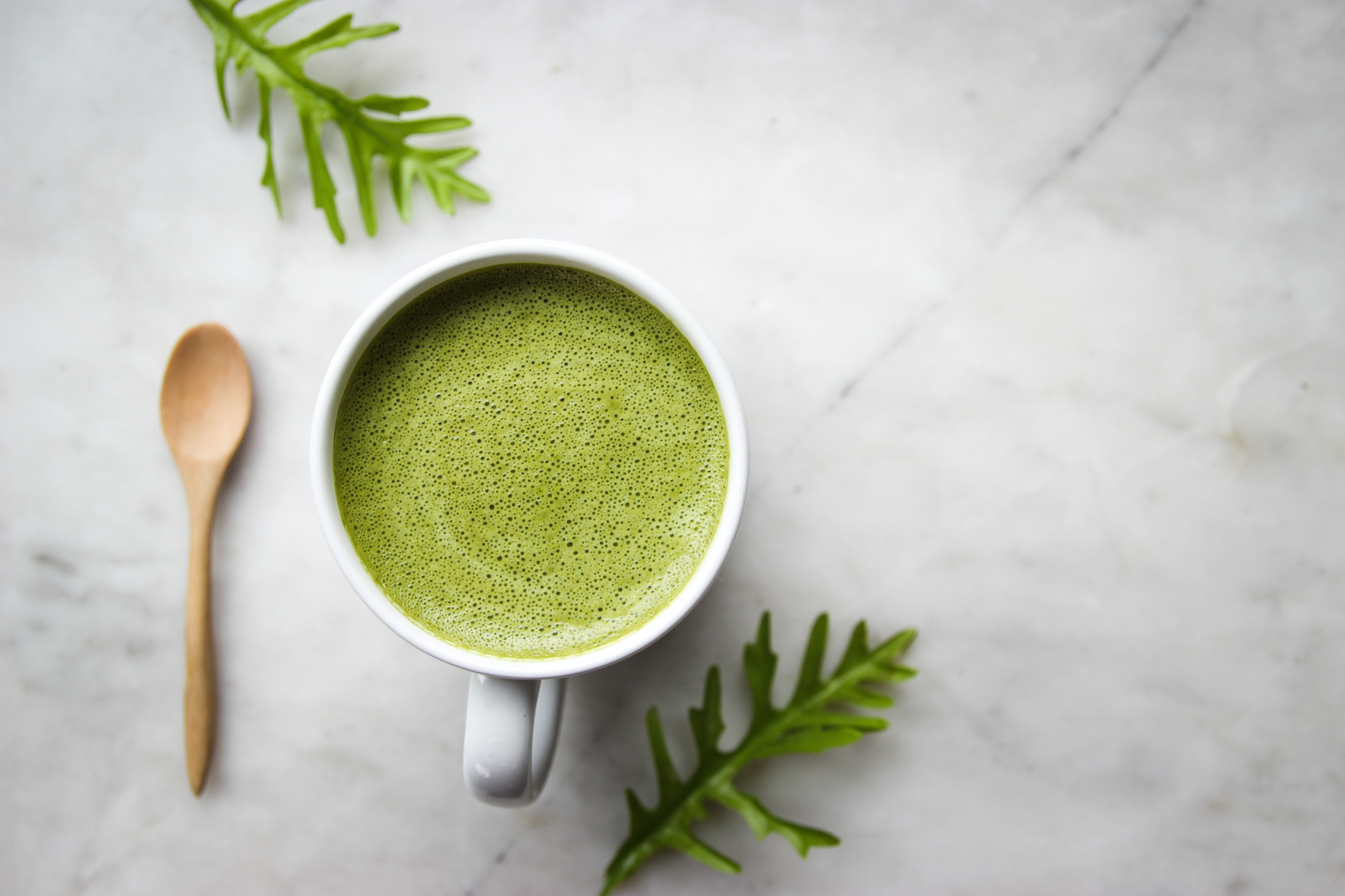 Зеленый чай латте маття