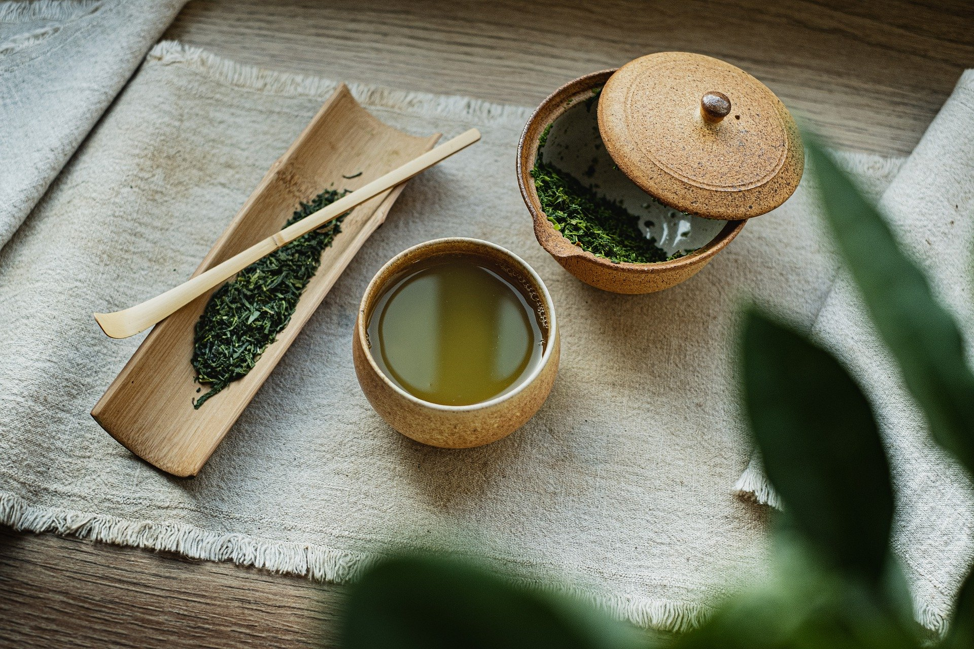 Зеленый чай со стевией и лимоном