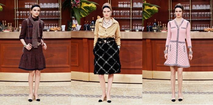 платья и костюмы с юбками Chanel