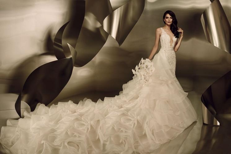 платье со съемным шлейфом от Ines Di Santo