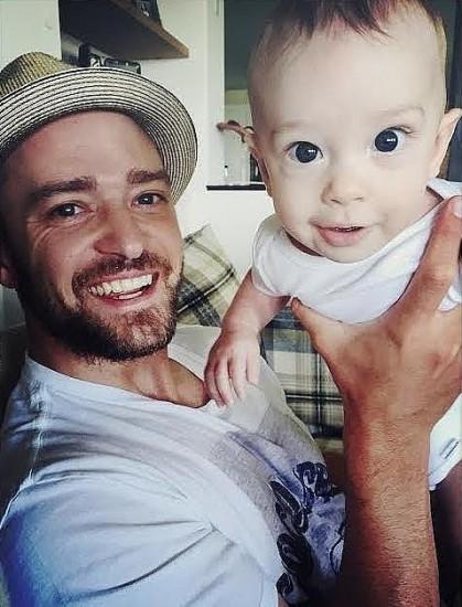 Джастин Тимберлейк и сын