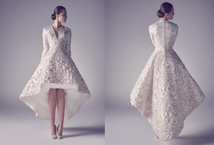 платье-муллет Невесомость Аshistudio