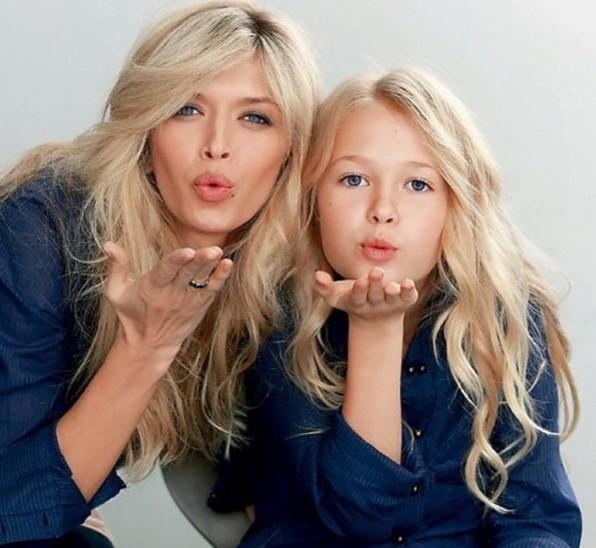 Вера Брежнева с дочерью