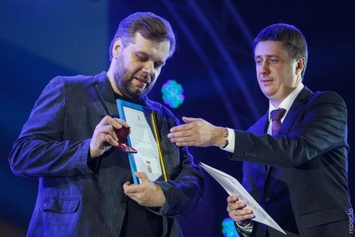 ячеслав Кириленко награждал премией им. Александра Довженко Мирослава Слабошпицкого