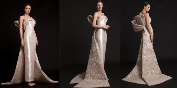 свадебное платье Krikor Jabotian