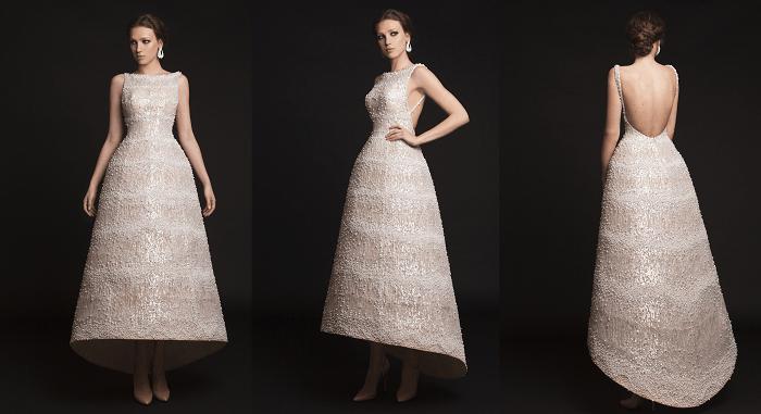 платье-муллет - непревзойденность Krikor Jabotian