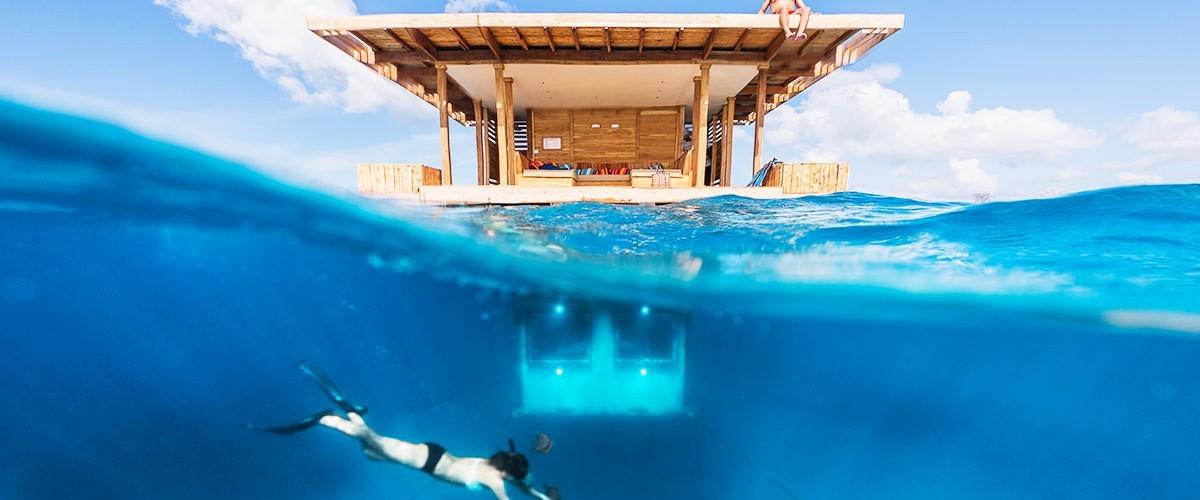 the floating resort