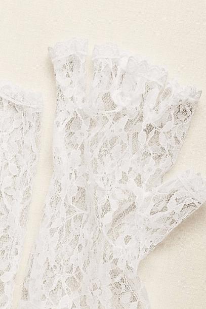 Свадебные перчатки без пальцев