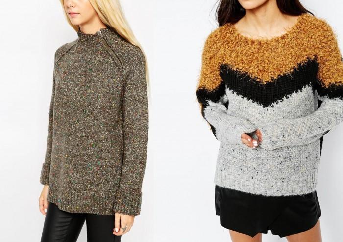 Цветные свитера или свитера с декорацией