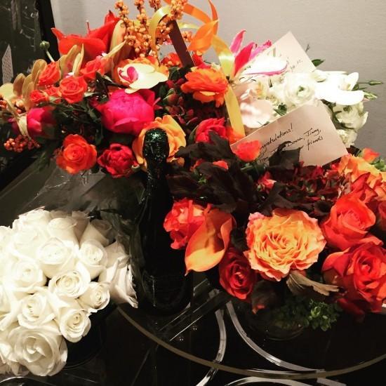 цветы от поклонников для Элизабет Бэнкс