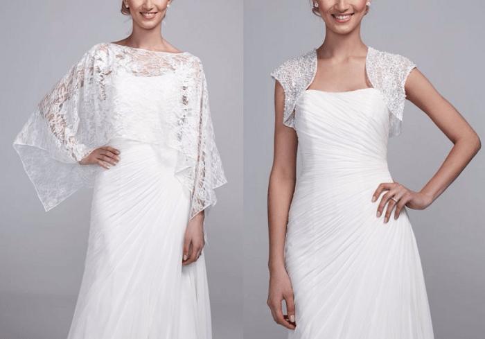 Гипюровые накидки для невесты