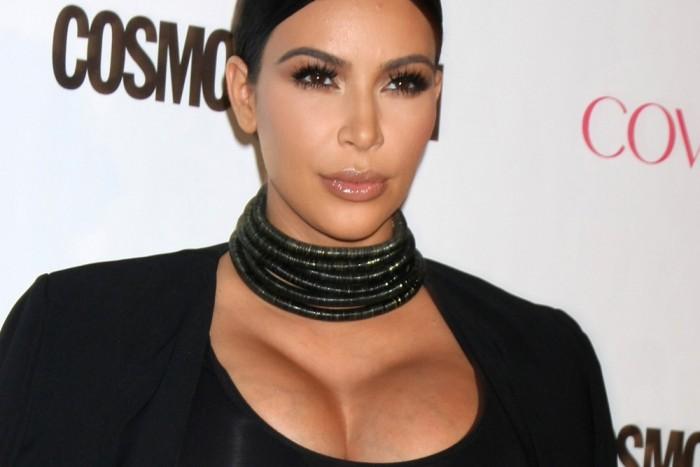 Ким Кардашьян на восьмом месяце беременности