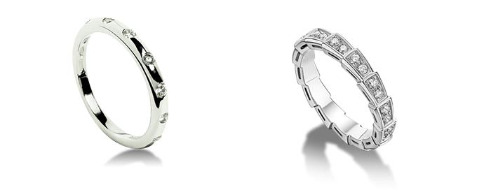 Белое золото - обручальные кольца
