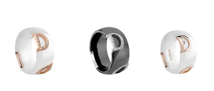 Золото с эмалью - обручальные кольца
