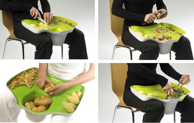 Поднос для чистки овощей