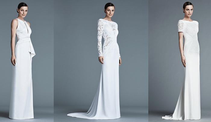 Чистый силуэт J. Mendel - свадебное платье