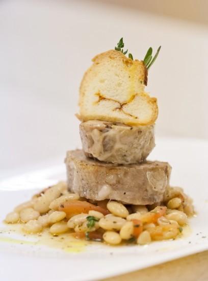 греческий траханос с телятиной и баклажанами