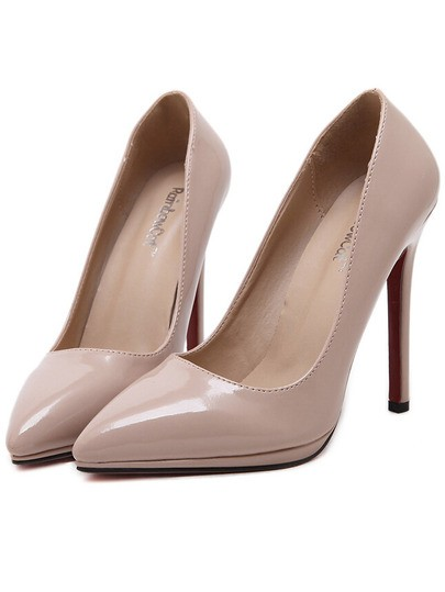 Обувь бежевого оттенка