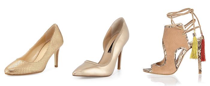 Золотая обувь
