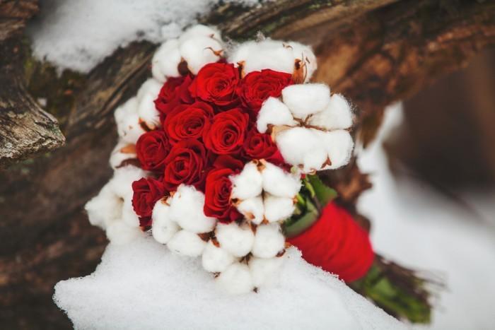 Букеты невесты зима, составить букет в корзинке